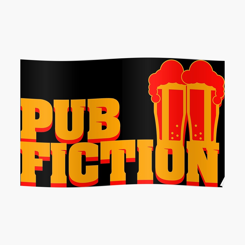 Pub Fiction Poster