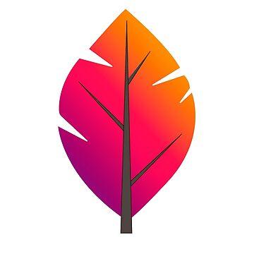 Leaf colorful by bennnie1177