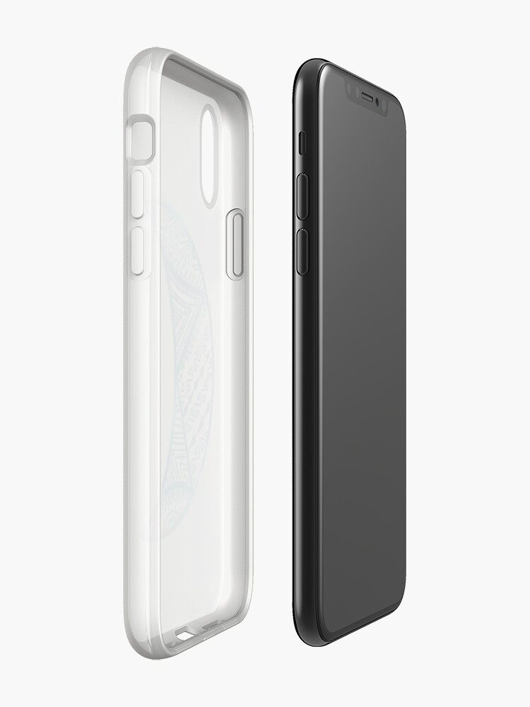Vista alternativa de Funda y vinilo para iPhone mandala luna azul