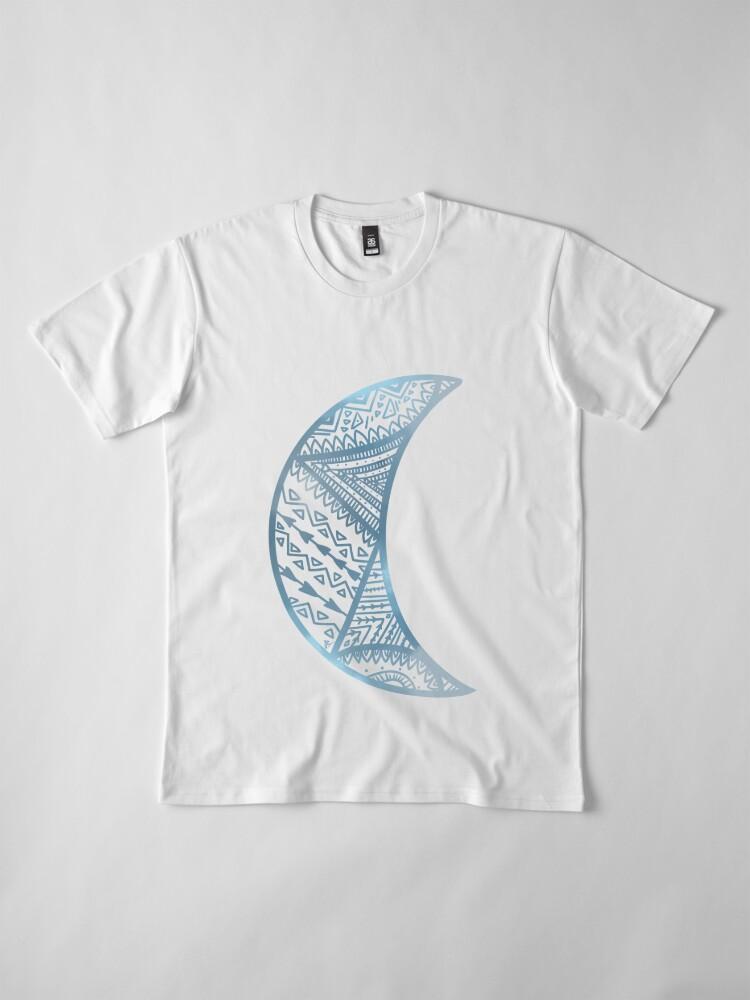 Vista alternativa de Camiseta premium mandala luna azul