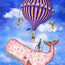 Flying Circus Whale by Tammy Wetzel