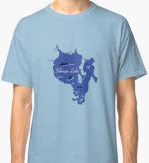 Sebago Lake, Maine Map Classic T-Shirt