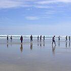 Travellers Stretch Their Legs (90 Mile Beach) by lezvee