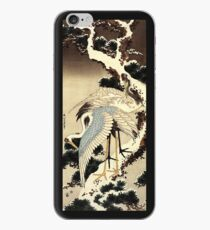 'Two Cranes on a Pine Covered with Snow' by Katsushika Hokusai (Reproduction) iPhone Case