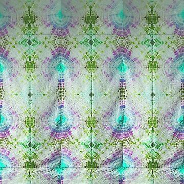 Tie Dye Pattern green purple by MadmyrtleDesign