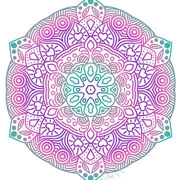 «Mandala en couleur» par Omelia-Plude