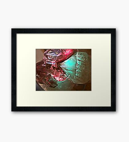 Elestial Crystal (Under Lighting) effect  door facets  Framed Print