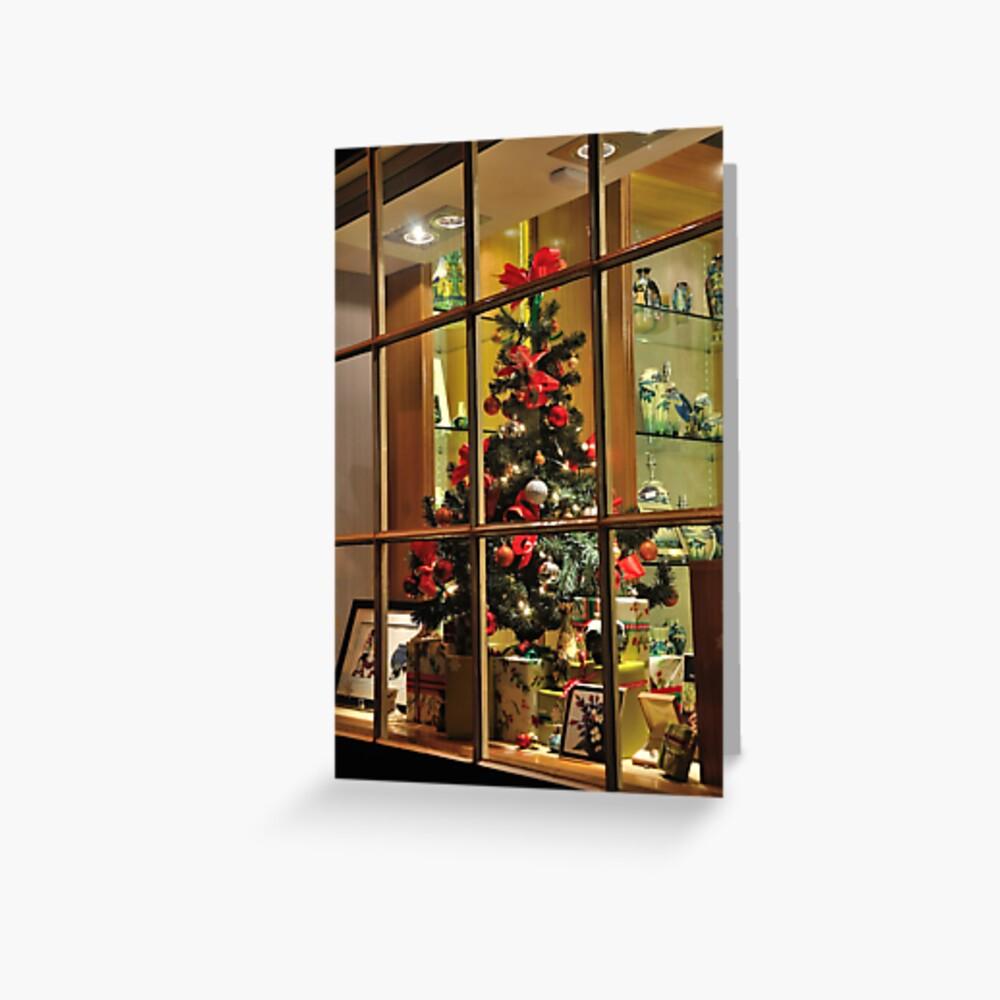 Christmas window Greeting Card