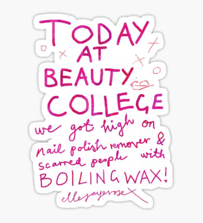 Today at Beauty School Sticker