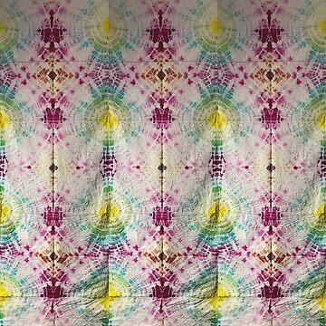 rainbow tie dye pattern by MadmyrtleDesign