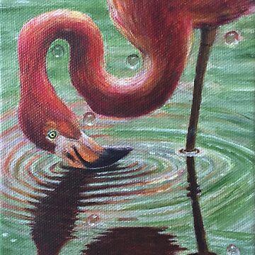 Wildlife Series:  Taking a Dip by ArtbyDedeConrad