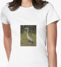 Chippewa Flowage Great Blue Heron Women's Fitted T-Shirt