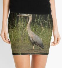 Chippewa Flowage Great Blue Heron Mini Skirt