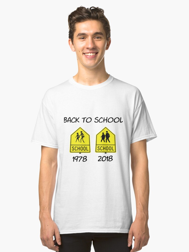 Back to school (cartoon 0329) Classic T-Shirt Front