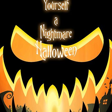 Nightmare Halloween Pumpkin Cutout Card by SquareDog