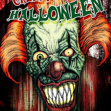 Creepy Clown Halloween Card by SquareDog