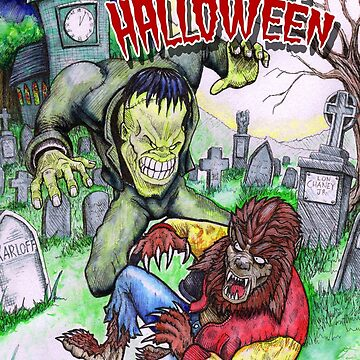 Monster Halloween Card by SquareDog