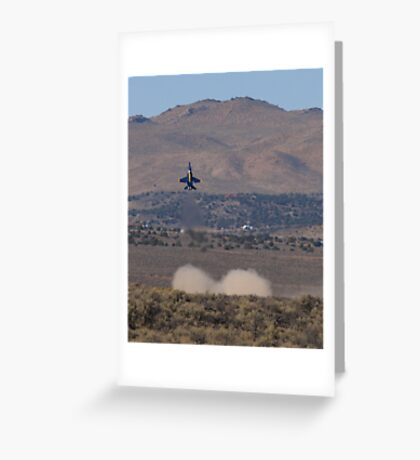 Blue Up Greeting Card