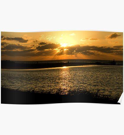 Sunset at Coral Bay Poster