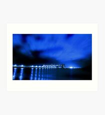 Kwinana Grain Jetty At Night  Art Print