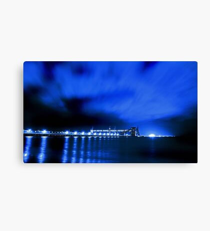 Kwinana Grain Jetty At Night  Canvas Print