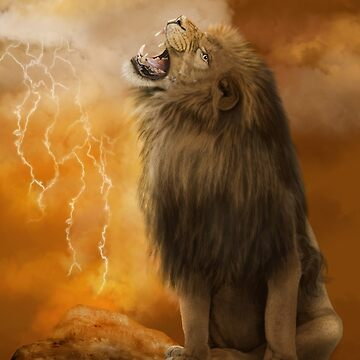Lion in a Storm by JaneEden