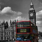 Double Decker at Big Ben, London, England by Allen Lucas