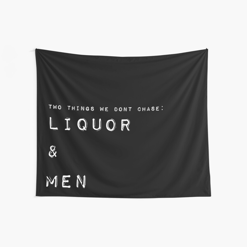Liquor and Men Tapestry Wall Tapestry