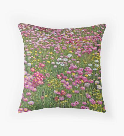 A Carpet of Native Flowers, Kings Park, Perth, Western Australia Throw Pillow