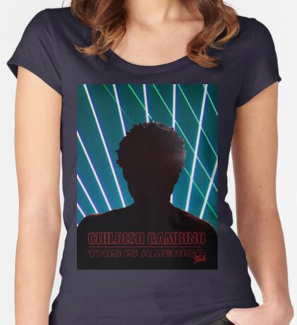Childish Gambino Fitted Scoop T-Shirt