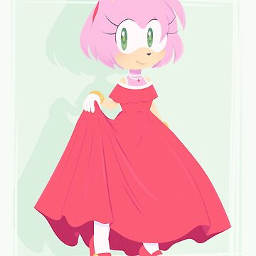 Amy Rose; Red Gown. by -Loulabelle