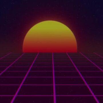 vaporwave sun synthwave by bonsaiboi