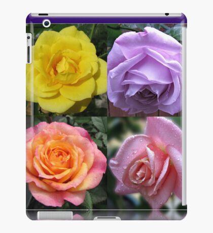 Collage mit vier Rosen iPad-Hülle & Klebefolie
