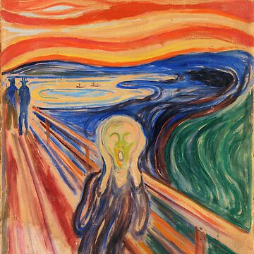 'The Scream' by Edvard Munch (Reproduction) by RozAbellera