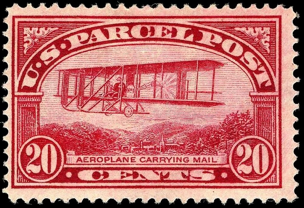 Airplane Postage Stamp by twc1197