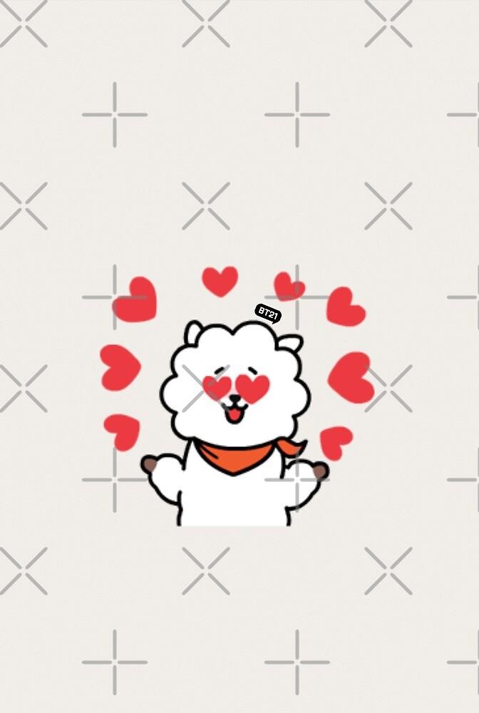 BT21 - RJ (Hearts) by DaydreamExpress
