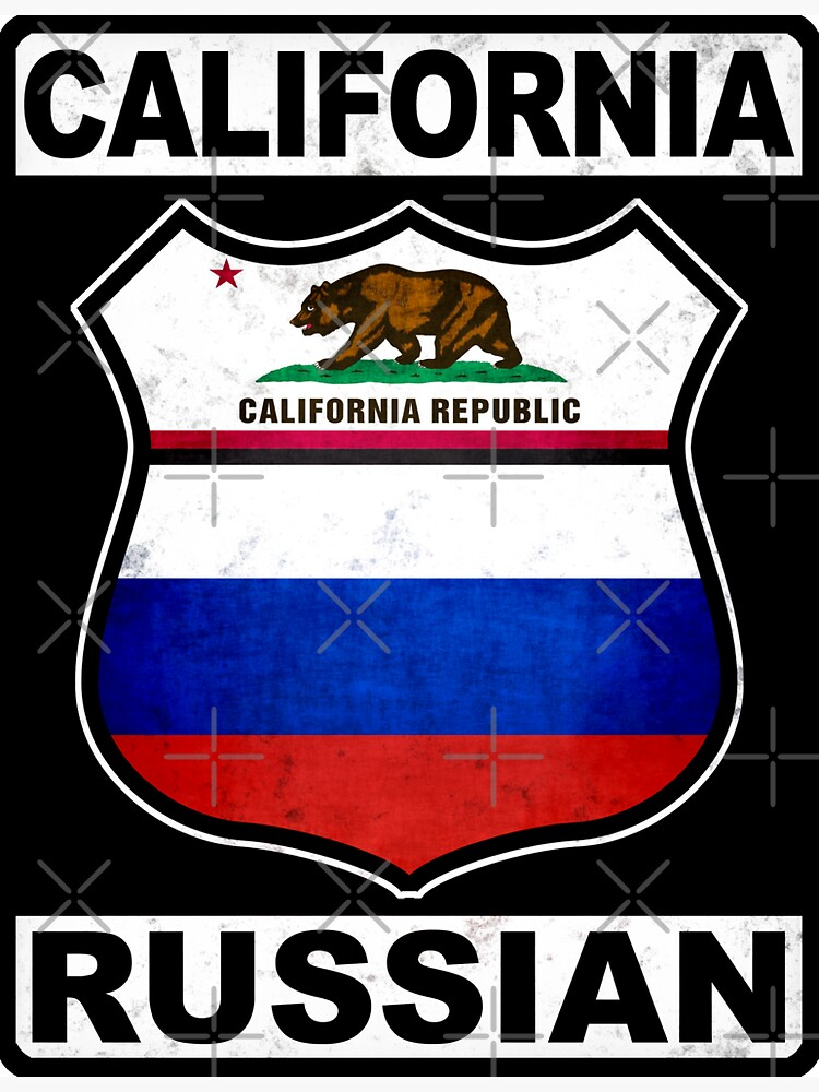California Russian Road Sign by Celticana
