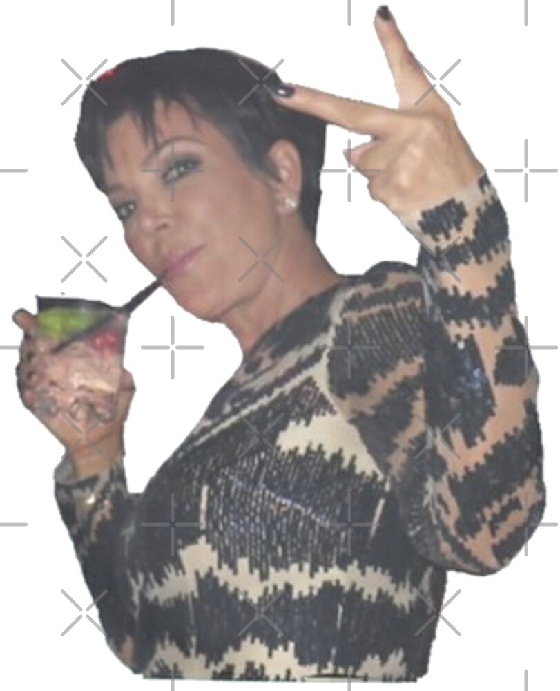 Kris Jenner Peace Out by Jessica Schaub