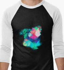 Rooster cock colorful Men's Baseball ¾ T-Shirt