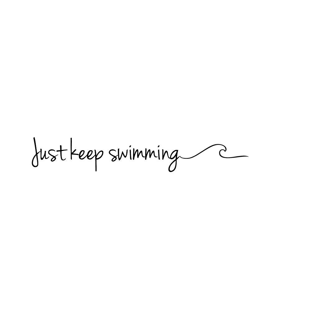 Just keep swimming wave- sticker by Maddie,Ellie,&Bailey Sticker co.