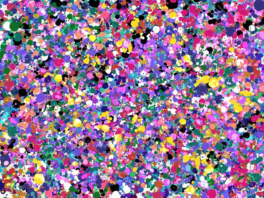 Colorful paint splatter by tothemoons