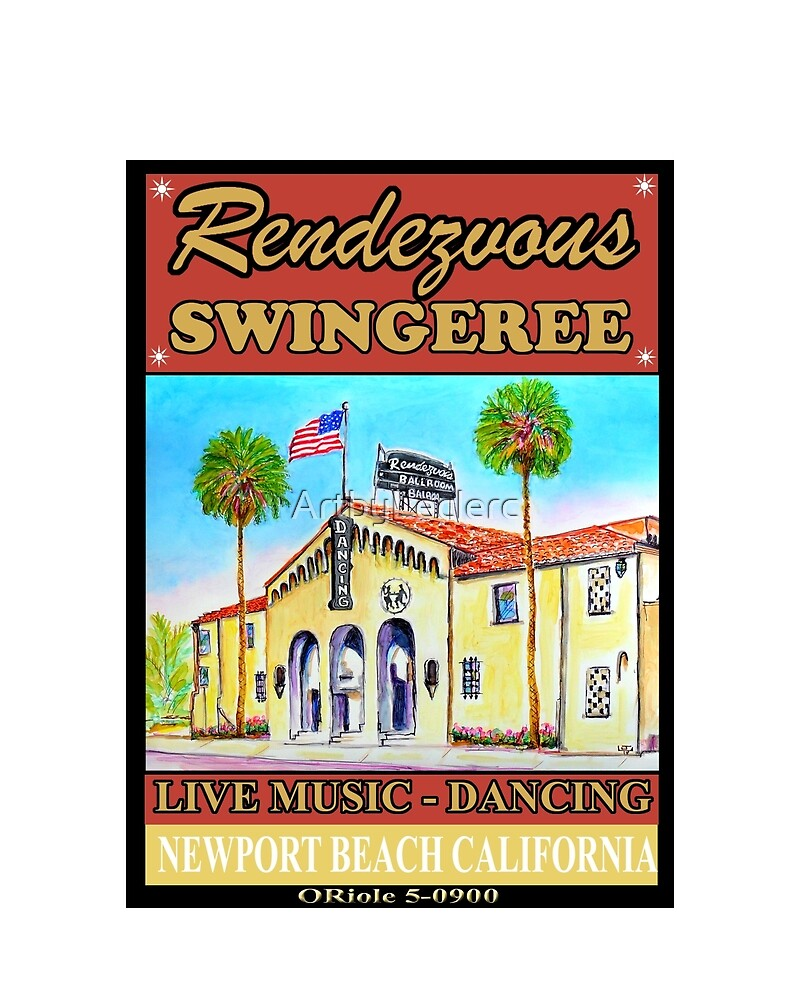 Rendezvous Ballroom Newport Beach California  by ArtbyLeclerc