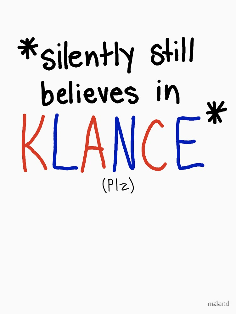 *Silently still believes in Klance* by msiand