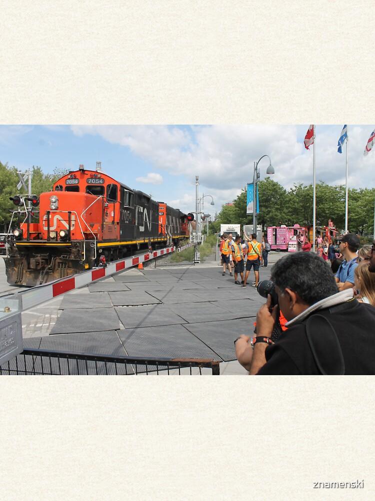 #Train, #railway, #railroad, #locomotive, #station, #transportation, #transport, #rail, #travel, #track, #engine, #diesel, #red, #platform, #old, #steam, #traffic by znamenski