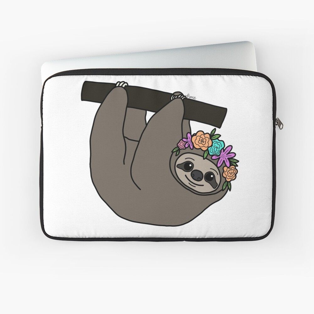 sloth queen Laptop Sleeve