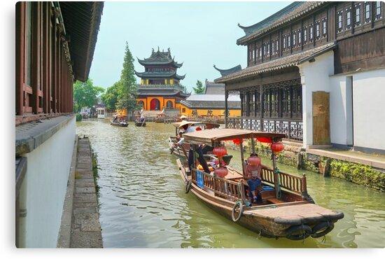 Zhujiajiao Water Village, near Shanghai, China by Geoffrey Higges