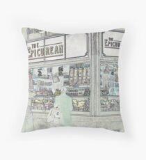 Melbourne Markets: Epicurean Throw Pillow