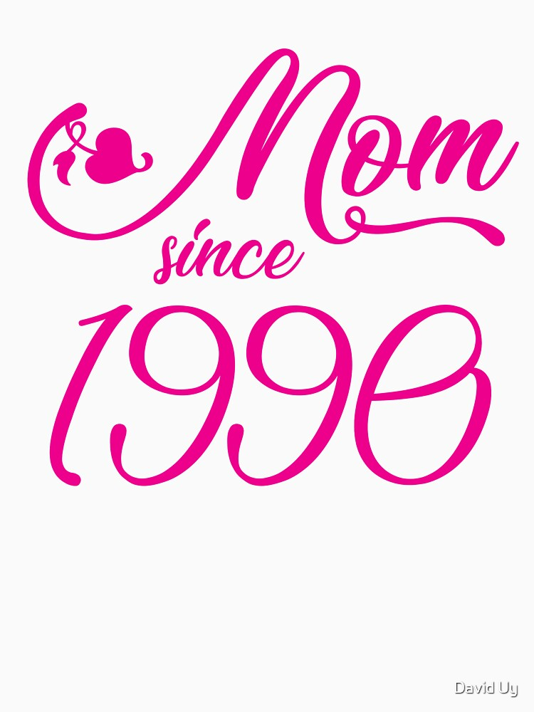 Mothers Day Christmas Funny Mom Gifts - Mom Since 1990 by daviduy