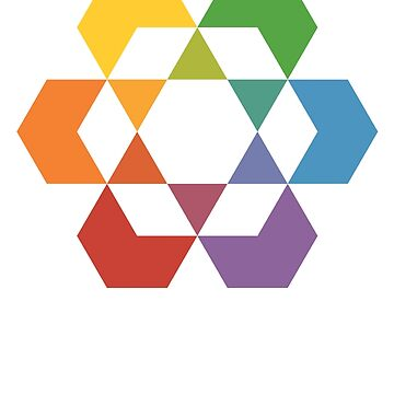 Hexagonal Awareness Star Design by hexagrahamaton