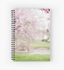 Magnolia Trees Flowers Spiral Notebook